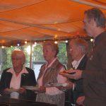 Vlnr: Elly van Greunsven, Annie Hollants en Frits de Charro