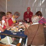 Vlnr: Anita Renard, Lilian van Gorp, Miep Sikkema, Jos Mommers en Frits de Charro