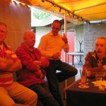 Vlnr: Piet Verkuijlen, Nos Mommers, Hilbert Kleis en Frits de Charro