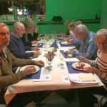 Vlnr: Frits de Charro, Frans de Charro, Frans van Doorn, Piet Verkuijlen en Miep Sikkema
