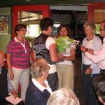 Vlnr: Jan Smits, José de Charro, Jacqueline Smits, Marja Kleis, Anita Renard, Miep Sikkema en Hilbert Kleis