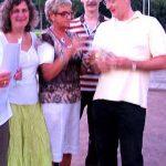 Vlnr: Anita Renard, Annelies de Graaf, Frits de Charro en Frans de Charro