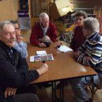 De Jdb-commissie in vergadering