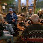Vlnr: Jannette, Rikie, Piet, Frans en José