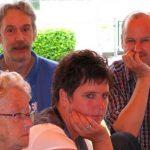 Vlnr: Annelies de Jong, Frits de Charro, Marja Kleis en Jeroen Vriens bij JdB-toernooi 2008